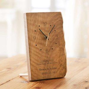 時を重ねる年輪時計