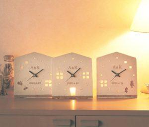 3つのKizuna時計 HOUSE(名入れ)